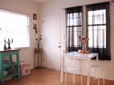 Photo for Beautiful, bright apartment w cute patio, parking & WiFi in hip Franklin Village