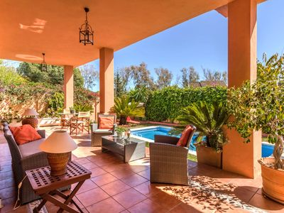 Photo for This 7-bedroom villa for up to 14 guests is located in Marbella and has a private swimming pool, air