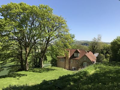 Photo for Beautiful downland house with stunning views 10 minutes from Goodwood