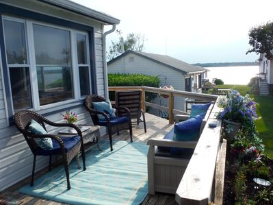 Enjoy beautiful views of Lake Montauk from front deck with all new furniture.