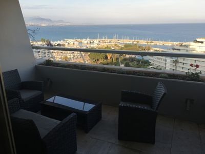 Photo for Marina Baie des Anges 2 rooms 10th floor (WIFI - Parking)
