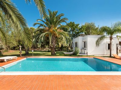 Photo for Countryside villa with swimming pool, olive tress, fruit trees, tropical garden!