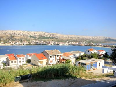 Photo for Two bedroom apartment with terrace and sea view Pag (A-9388-a)