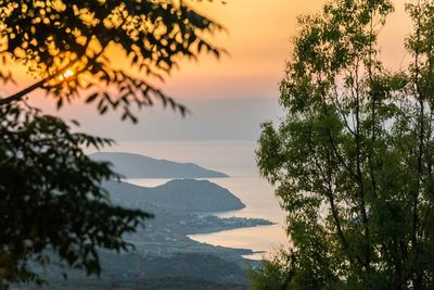 Stunning sunsets with views over the Lasithi mountains and Mirabello bay