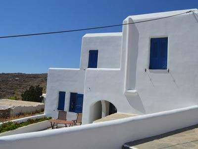 Photo for Independent 7 bed-house in Chorio, Sikinos island, Kyclades islands, Greece