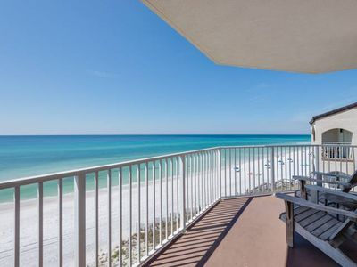 Photo for Cozy Spacious Gulf Front Condo ~ Steps to the Beach ~ Amazing Views of the Gulf!
