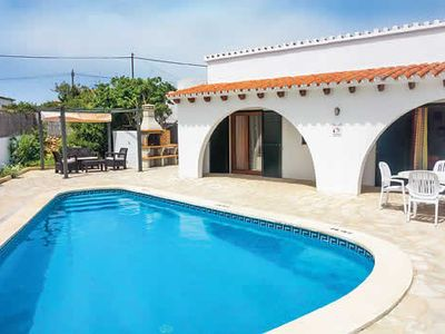 Photo for Traditional Spanish home w/ pool + BBQ, close to child-friendly beaches