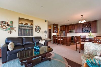 Quality furniture and cabinets, premium equipped and fully stocked kitchen.