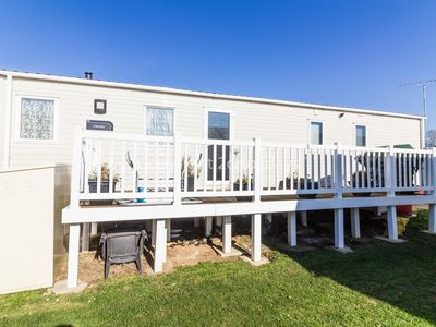 Photo for 8 berth caravan for hire with decking at Manor park in Hunstanton ref 23059