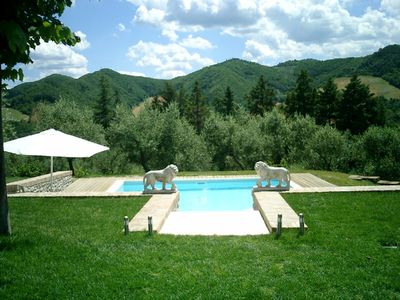 Photo for Charming vacation home with pool, sun deck and olive grove