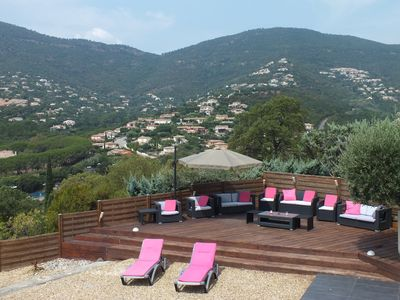 Photo for Large modern villa's ground floor, 25min from St Tropez, 8min walk to beaches
