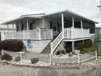 Photo for 8/1/20 open! Clean house! Steps to the beach and  lake!  Free golf cart!