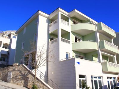 Photo for Beautiful apartments with sea view, balcony, air conditioning, WIFI, parking, centrally located