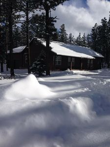 Photo for Beautiful three bedroom mountain home one mile from ski and mountain bike lift