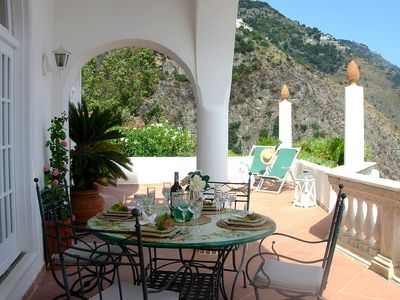 Photo for Villa Marelato: A splendid and luminous two-story villa built sheer above the sea, with Free WI-FI.