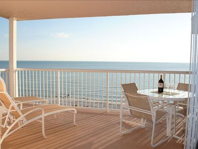 Seaview #501 Gulf Front Balcony - 2 Loungers, Table & 4 Chairs