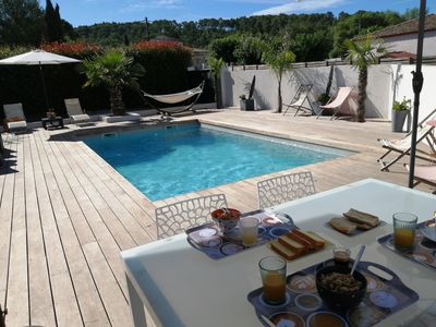 Photo for Villa 170m2 Private swimming pool 6 kms Montpellier between beach and river 8-10 people