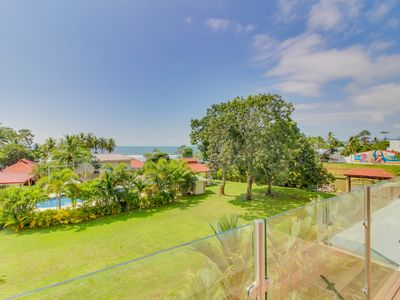 Photo for Ocean view, dog-friendly condo w/ AC & shared pool - walk to the beach!