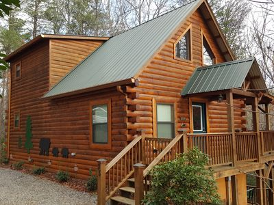 Photo for Spring Is Here! Enjoy Your Own 3/3 Real Log Cabin, Only $99 Nightly!