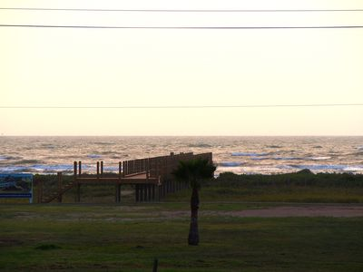Beach from our deck with Beach Walkover