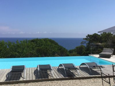 Photo for Cap Corse House located facing the sea 4 bedrooms infinity pool