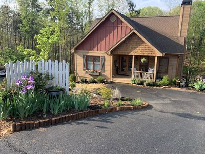 Photo for ENTIRE CABIN ON 1 ACRE 5 MILES FROM DOWNTOWN DAHLONEGA!  ONLY 4 MILES FROM UNG