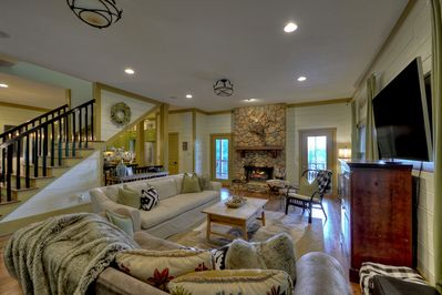 Inviting living room with Fireplace, Main Level