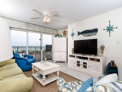 Photo for Airy beachfront condo, 2 beach chairs included, Quick drive to entertainment