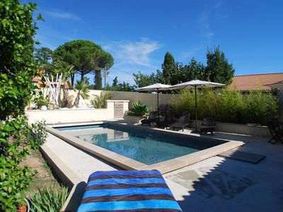 Photo for Design Villa with Pool 15 min from the beaches and 10 min from Montpellier