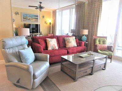 Photo for Beach Club A1507 King/Qn/Sleeper Direct Gulf View-On Beach! -  WIFI -TV Upgrades