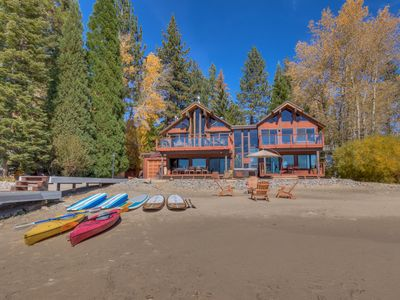 Photo for Enjoy This Beautiful Lake Front Home From Your Private Beach & Hot Tub