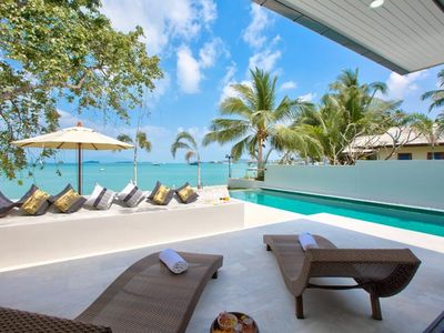 Photo for 5 Bedroom Beautiful Beach Front Villa