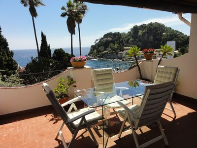 Photo for Elegant apartment in the heart of Taormina mare with amazing view!