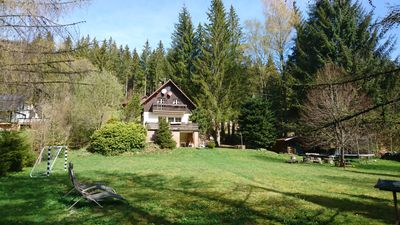 """Photo for Romantic forest house """"Lucas"""" with a beautiful garden"""