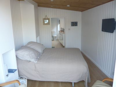 Bed and living space