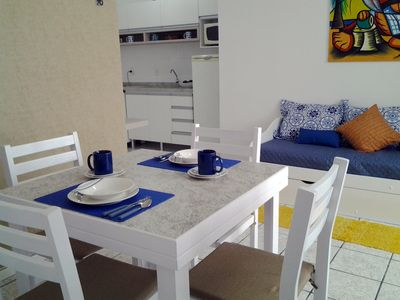 Photo for Beautiful apartment in the center of Canasvieiras, Wi-Fi and garage, 200 m from the sea!