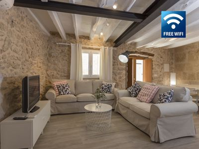 Photo for Charming Mallorcan character house in the historic center of Pollensa