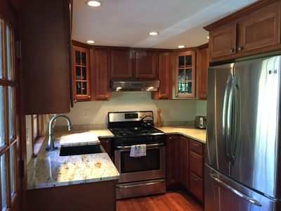 Kitchen with granite, stainless