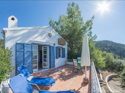 Photo for Villa Alena - Traditional One Bedroom Villa with Air Conditioning, Private Pool, only 800 Meters to Agios Nikitas Beach and Village ! FREE WiFi