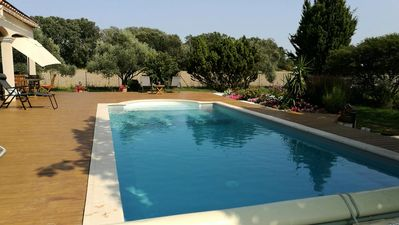 Photo for 4 room house 6 people heated pool - 4 rooms 6 people