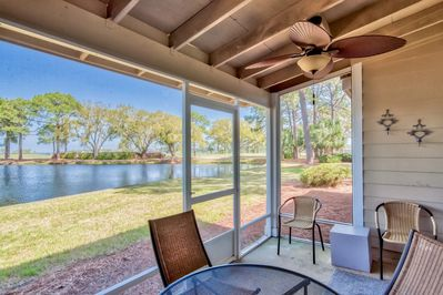 Private and relaxing screened porch with great views!