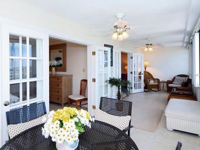 Photo for Lovely 2BR/2BA apartment on Gulf Side of Peppertree Bay in Beautiful Siesta Key