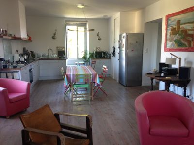 Photo for Charming apartment in the heart of Guéthary, quiet and bright.