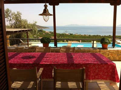 Photo for Villa with swimming pool and stunning sea view