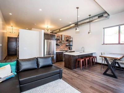 Downtown Modern Loft. Many recreational options right out your front door!