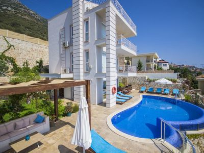 Photo for Beautiful 5 bedroom villa with spectacular views over Kalkan Bay