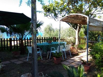 Photo for Delightful apartment with sea view on Tropea.