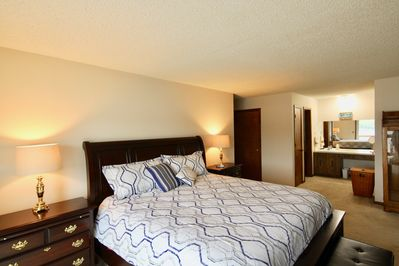 The master bedroom is located on the main floor.
