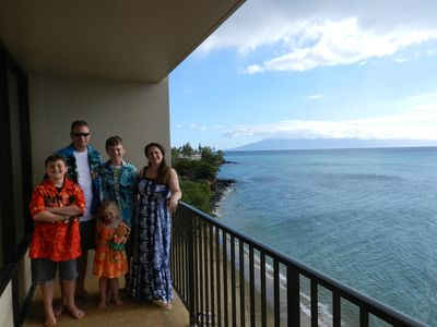 Photo for Maui #1 Location & View -180° Oceanfront View-Read Alert - Directly on the Beach