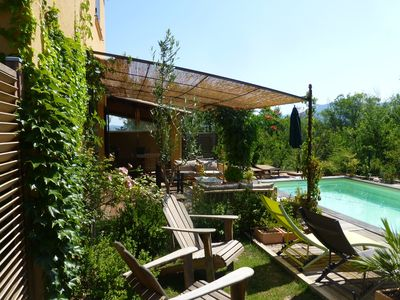 Photo for Comfortable house, quiet setting, greenery, private pool, Ste Victoire views